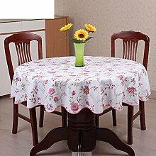 XKQWAN PVC Runde Tischdecke Runde Tischdecke Für Hotels Wasserdicht ?lbest?ndig Wegwaschen Anti-hot Hausgebrauch Kunststoff Runde Tischdecke Tabelle Tuch-J Durchmesser180cm(71inch)
