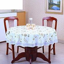 XKQWAN PVC Tischdecke Runde Tischdecke Für Hotels