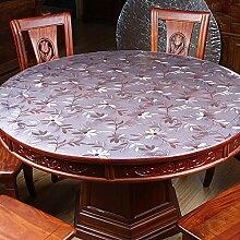 XKQWAN Pvc tischdecke Transparent Weichglas Einweg Runde Kristall-teller Kunststoff Wasserdicht Anti-?l-tischdecke-C Durchmesser80cm(31inch)
