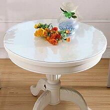 XKQWAN Pvc tischdecke Transparent Weichglas Runde Einweg Kunststoff Wasserdicht Anti-?l-tischdecke Crystal tischdecke-A Durchmesser90cm(35inch)