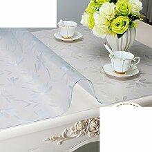 XKQWAN Pvc Weiches glas Wasserdicht Tv schrank tischdecke Schuhkarton Nachttisch Transparente tabelle mat Teetisch matten Crystal tischdecke-C 50x190cm(20x75inch)