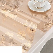 XKQWAN Pvc Weichglas tischdecke Teetisch matten Wasserdicht Durchsichtige Crystal platte tischsets Wasserdicht Anti-verbrühende isolierte spitze ?lbeweis tischdecke-E 60x120cm(24x47inch)