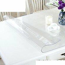 XKQWAN Pvc Weichglas tischdecke Wasserdicht Anti-verbrühende isolierte spitze ?l-beweis Einweg Durchsichtige Plastiktisch mat L?ngliche tischdecke-C 80x135cm(31x53inch)