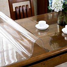 XKQWAN Transparent Pvc tischdecke Weiches Glas Frosted Teetisch matten Wasserdicht Einweg-kunststoff-tischdecke-A 80x80cm(31x31inch)