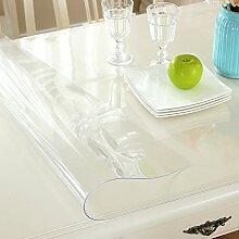 XKQWAN Weiches glas Verdicken sie Pvc tischdecke Wasserdicht Burn-proof Kunststoff tischdecken Dining schreibtischunterlagen Transparent Teetisch matten Crystal tischdecke-I 90x150cm(35x59inch)