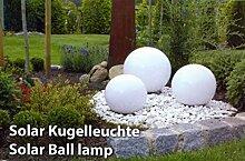 XL 15-30 cm Garten Kugel Lampe LED Solarleuchte