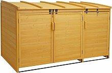 XL 3er-/6er-Mülltonnenverkleidung HHG-019,