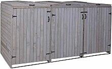 XL 3er-/6er-Mülltonnenverkleidung HHG-981,