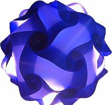 XL 45cm Blau Puzzle Lampe Bastellampe designerlampe