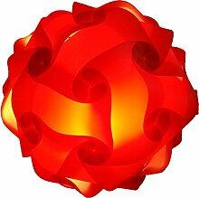 XL 45cm Rot Puzzle Lampe Bastellampe designerlampe