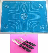 XL Backmatte BLAU + 3 Winkelpalette Streichpalette