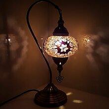 XL bunt türkisch Lampe / Marokkanische Lampe Schreibtisch Tisch Lampe 43CM - pp-a1_ Swan