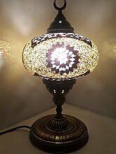 XL bunt türkisch Lampe / Marokkanische Lampe Schreibtisch Tisch Lampe 45cm - Tree _P-A2