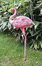 XL Dekofigur Flamingo 89 cm Metall Gartendeko Vogelfigur Tierfigur Statue NEU