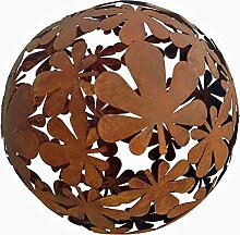 XL Dekokugel Metall rostig D 40 cm Gartenkugel