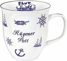 XL- Porzellan- Tasse, Kaffeepott, Becher- maritim Rügen -deutsches Produktdesign