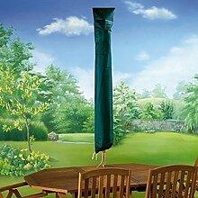 XL Sonnenschirm Schutzhülle für Sonnenschirm Abdeckung für großen Sonnenschirm - aus reißfestem robustem PE Gewebe - mit Metallösen und Nylonkordel zur einfachen Befestigung