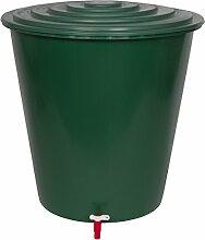 XL Wassertank 210 Liter aus Kunststoff in Grün.