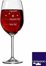 XL Weinglas mit Gravur von Leonardo / 630ml mit Gravur