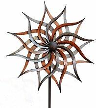 XL Windrad Facella Metall L185 cm Windmühle Stecker Gartenstecker Gartendeko