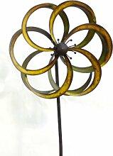 XL Windrad Fleur Blume Metall L180 cm Windmühle