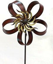 XL Windrad Fleur Metall L180 cm Windmühle Stecker Gartenstecker Gartendeko