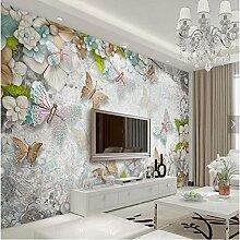 XLi-You 3D Tapete Fresko Custom 3D Blume Pearl