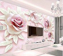 XLi-You 3D Tapete Fresko Custom 3D Rosa Rose