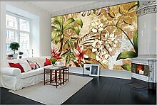 XLi-You 3D Tapete Fresko Custom Floral Retro