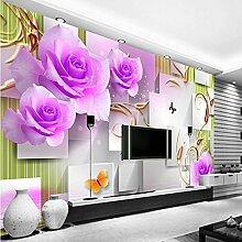 XLi-You 3D-Wandbilder Fliese rose Wohnzimmer