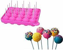 XLKJ BPA-frei Lollipop Silikon Formen,Cake Pop