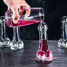 XLLQYY Weingläser ohne Stiel, 150 ml, kreatives