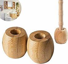 XLOOYEE Zahnbürsten Halter Holz Bambus Bambus