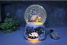 XLTWKK Schneekugel Glas Schneehaus Kristallkugel