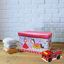 Xmas Kids Kinder groß Geschenk Spielzeug Aufbewahrungsbox Mädchen Jungen Brust Bücher Hocker Sitz Wohnzimmer Wäschekorb Princess W/ Horse