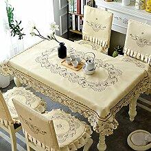 XMMLL Continental Esstisch Tisch Tischdecken rechteckige Tische Tischsets Sitzkissen Sitz montiert Kits, Tabelle Flagge 40 * 200 cm.