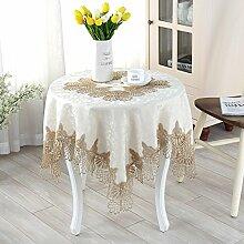 XMMLL Continental Esstische Textilien Tische Tisch Tücher amerikanische Spitze TV-Schrank Nachttische und Stühle Kit Gold Spitze, 40 * 180 Cm.