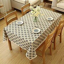 XMMLL Eine idyllische Baumwolle Tischdecken der Esstisch Tücher über die Kante der Schranktür Handtuch~ Tisch Tücher, Beige, 100 * 150 Cm.