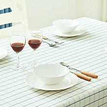 XMMLL Moderne und Minimalistische vergitterten Tischdecken Stoffen rechteckigen Esstisch Drapieren frische kleine Spitze Tisch Tischdecke, Lace Edge, 100*100 Cm