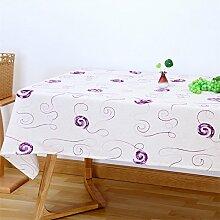 XMMLL Stickerei Blume Stereo Continental Schöne Tischdecken Zinn Runde Handel Textilien Tische Wohnzimmer Kaffee Pad Tischdecke Abdeckung Handtuch, Lavendel Lila, 200 * 200 Cm (Tisch Verfügbar)