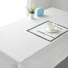 XMMLL Tischdecke Aus Baumwolle Hanf Einfache, Moderne Rechteckige Tischdecke Tisch Stoff Weiß), Bedeutet Eine Arrangementwhite, 135 * 220 Cm