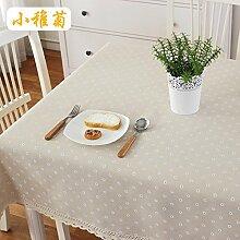 XMMLL Tischdecke Aus Baumwolle Hanf Rechteckige Gitter Pastorale Kaffee Tischdecke Tischdecke Handtuch, Squaresmall Gänseblümchen, 40 * 60 Cmtwo