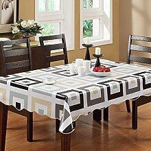 XMMLL Tischdecke PVC Wasserdicht und wasserdicht Ölfeld Garten - gratis Tischdecken Kunststoff Continental Tischdecke Tisch Matte, 152 * 203 cm