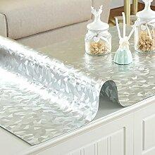 XMMLL Tischdecke Pvc Wasserdicht Weichem Glas Und Split Tischdecke, F Scheuern), 80 * 140 Cm
