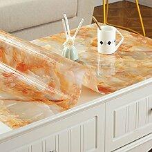 XMMLL Tischdecke Pvc Wasserdicht Weichem Glas Und Split Tischdecke, Ein Scrub), 60*60 Cm