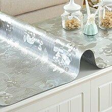 XMMLL Tischdecke Pvc Wasserdicht Weichem Glas Und Split Tischdecke, C Scheuern), 65 * 120 Cm