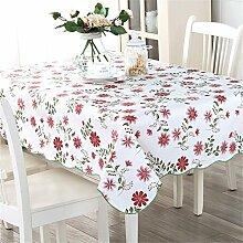 XMMLL Tischdecke Water-Resistant Oil-Resistant Cleaning-Freepvctable Tuch Tisch decken Handtuch Tischdecke, 152 * 152 Cm (Parteien Tischdecken)