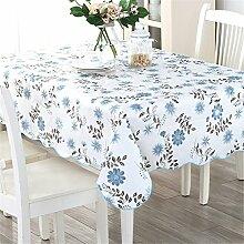 XMMLL Tischdecke Water-Resistant Oil-Resistant Cleaning-Freepvctable Tuch Tisch~ Abdeckung Handtuch Tischdecke, 105 * 152 Cm