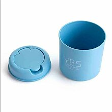 XMUEI Mini Desktop Mülleimer blau Lange runde