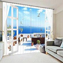 xmydeshoop Vorhang Blickdicht - 3D Druck Balkon